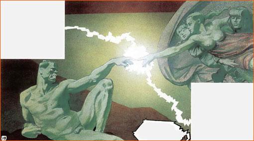 La création d'Adam selon Liberatore.