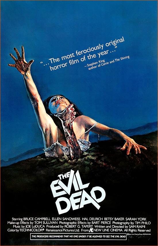 Evil Dead de Sam Raimi.