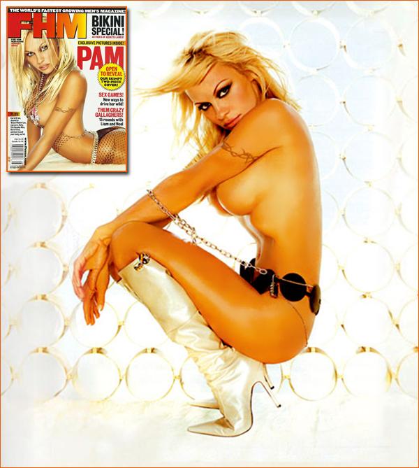 Pamela Annderson par Willy Camden pour FHM.