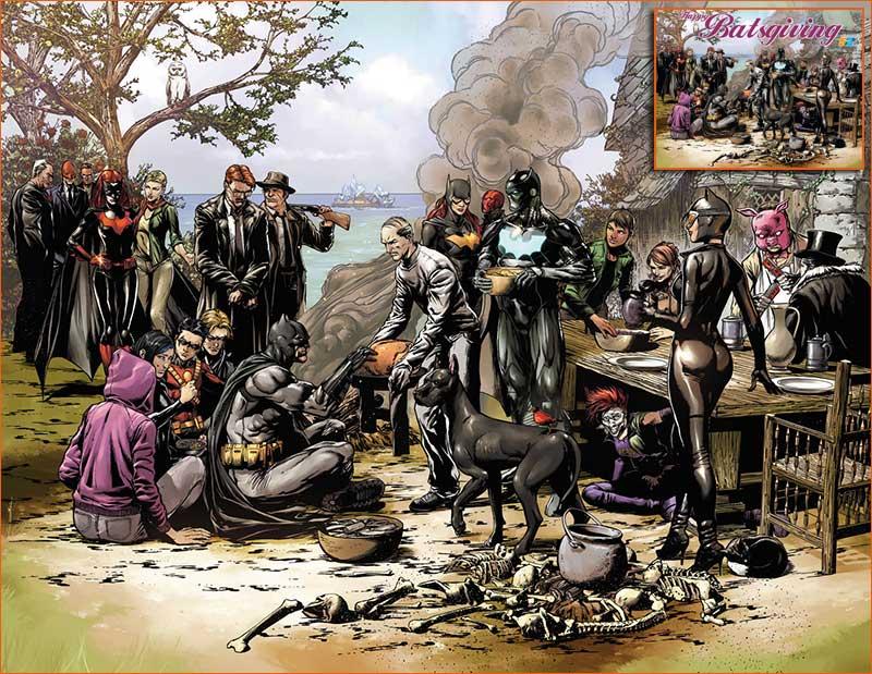 The first Thanksgiving 1621 selon Jason Fabok.