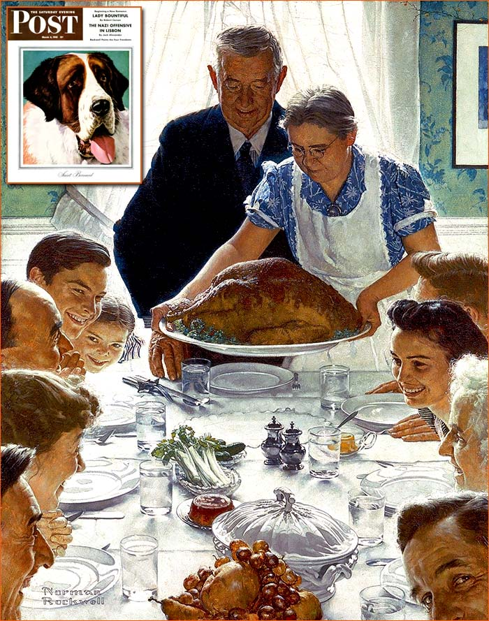 Freedom from want de Norman Rockwell.