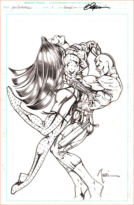 Hercule et Antée selon Billy Tucci.