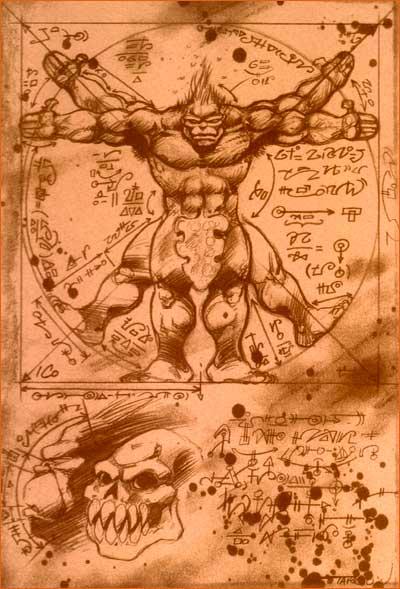 L'Homme de Vitruve selon Didier Tarquin.