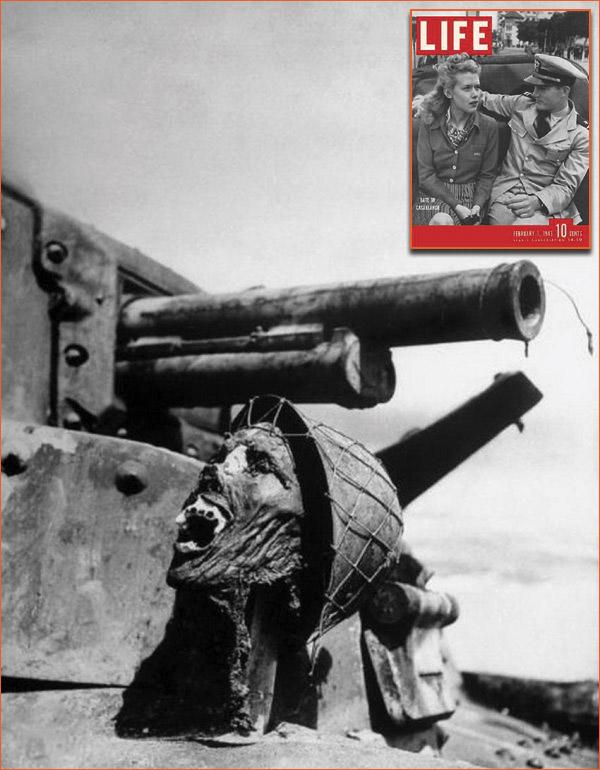 A Japanese soldier's skull de Ralph Morse pour le magazine Life.