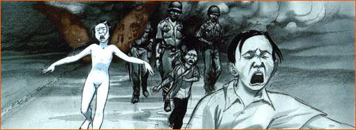 Phan Thi Kim Phuc screams in plain selon Yslaire.