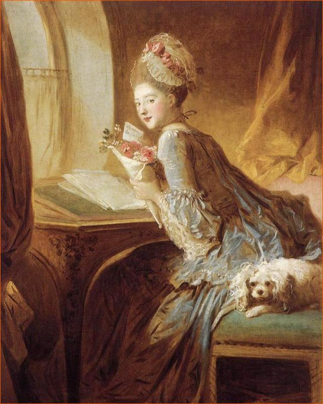 La Lettre d'amour de Jean-Honoré Fragonard exposé au Metropolitan Museum of Art de New York (1775).