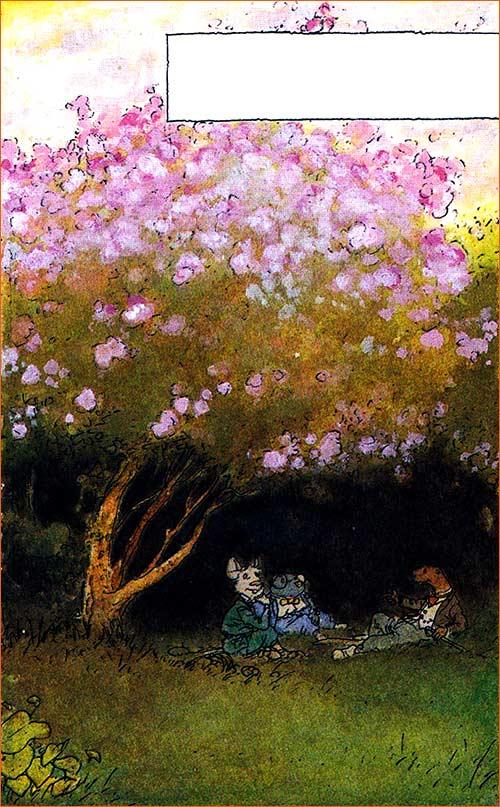 Le repos sous les lilas selon Michel Plessix.