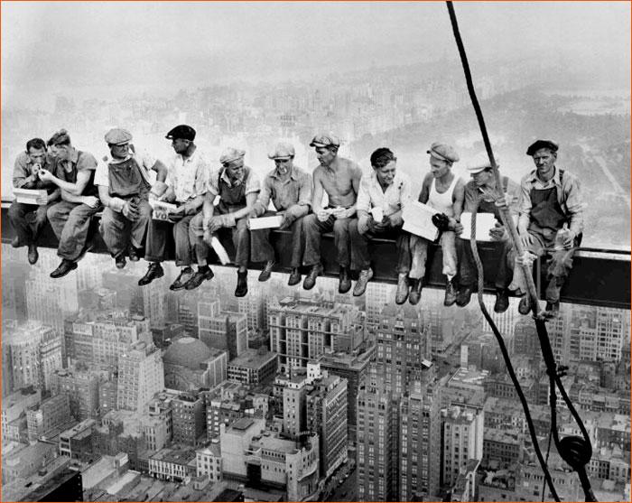 Lunch atop a Skyscraper de Charles Clyde Ebbets.