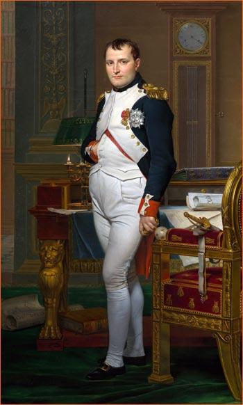 Napoléon dans son cabinet de travail de Jacques-Louis David.