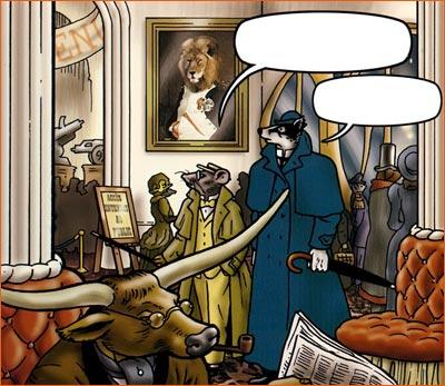 Napoléon dans son cabinet de travail selon Bryan Talbot.
