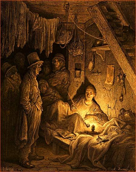 Opium smoking - The Lascar's room de Gustave Doré.