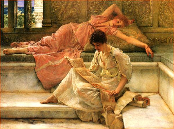 Le poète favori de Lawrence Alma-Tadema.