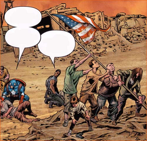 Raising the flag on Iwo Jima selon Mike Deodato Jr.