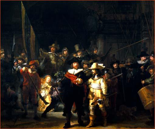 La ronde de nuit de Rembrandt.