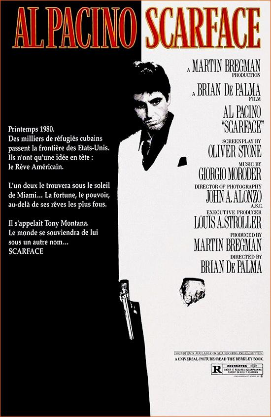 Scarface de Brian De Palma.
