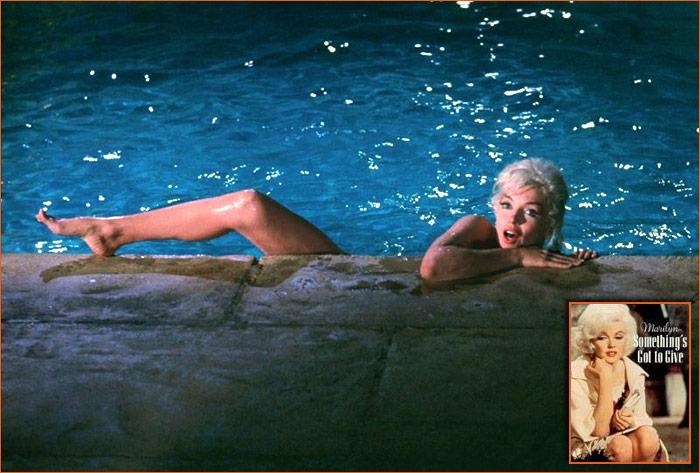 Photographie de Marilyn Monroe par Larry Schiller dans Something's got to give de George Cukor.