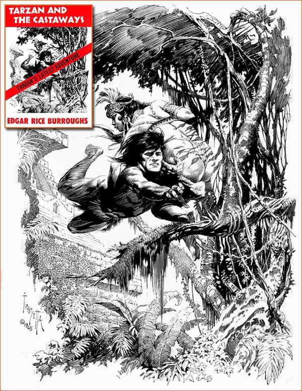 Tarzan et les naufragés d'Edgar Rice Burroughs (Couverture Frank Frazetta).
