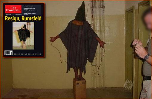 Photographie d'Abou Ghraib pour la couverture de The Economist.