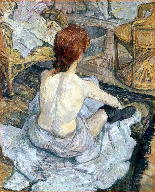 Rousse dit aussi La toilette d'Henri Toulouse-Lautrec.