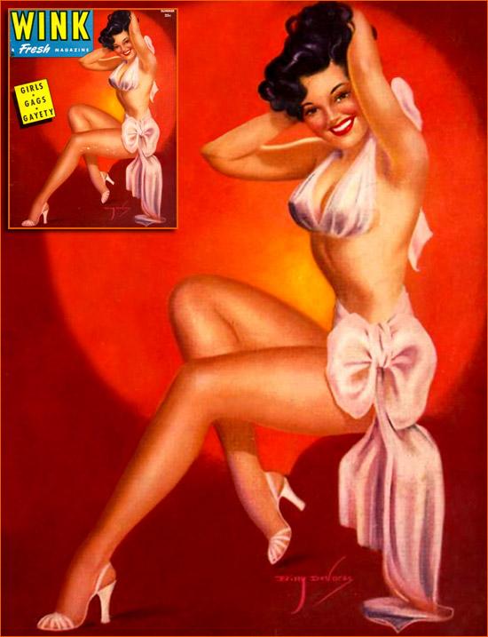 Illustration de Billy De Voss pour la couverture du magazine Wink (1945).