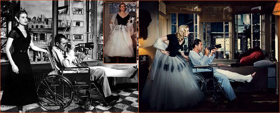 Fenêtre sur cour (Alfred Hitchcock) selon Norman Jean Roy avec Scarlett Johansson et Javier Bardem en lieu et place de Grace Kelly et James Stewart.