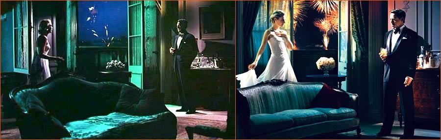 La main au collet (Alfred Hitchcock) selon Norman Jean Roy avec Gwyneth Paltrow et Robert Downey Jr. en lieu et place de Grace Kelly et Cary Grant.