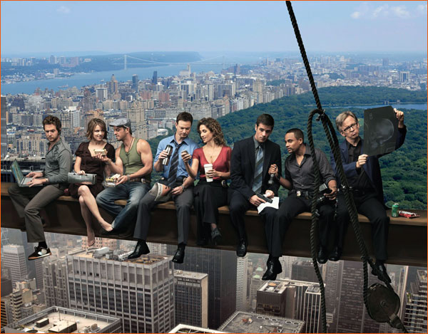 Les Experts: Manhattan version Lunch atop a Skyscraper.