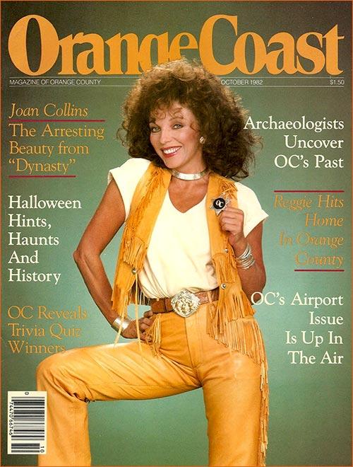 Joan Collins pour Orange Coast.