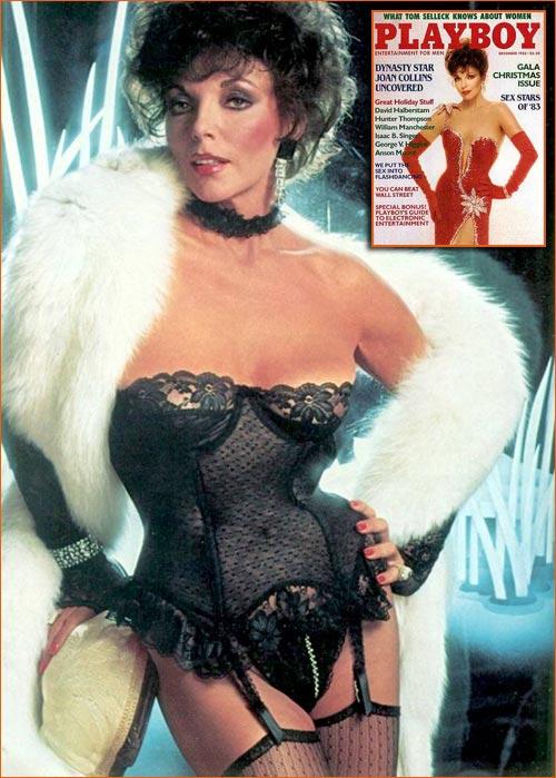 Joan Collins par Mario Casilli pour le Playboy.